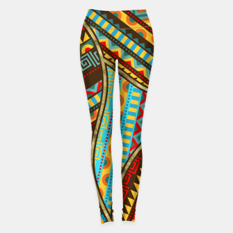 Thumbnail image of Ethnic Tribal Pattern Art  Leggings, Live Heroes