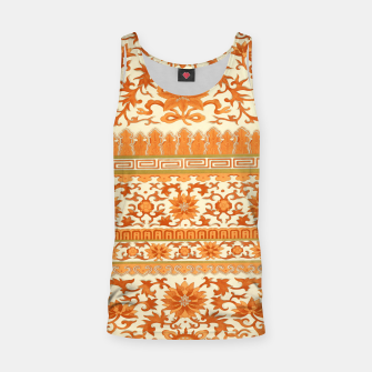Thumbnail image of elegant Chinese floral pattern in oranges Tank Top, Live Heroes