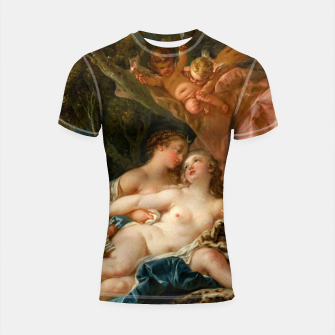 Thumbnail image of Jupiter in the Guise of Diana, and Nymph Callisto Shortsleeve rashguard, Live Heroes