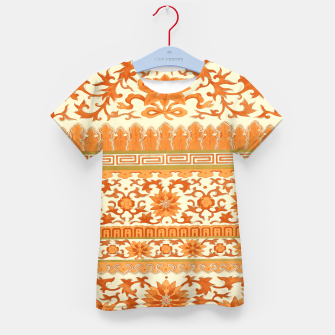 Thumbnail image of elegant Chinese floral pattern in oranges Kid's t-shirt, Live Heroes