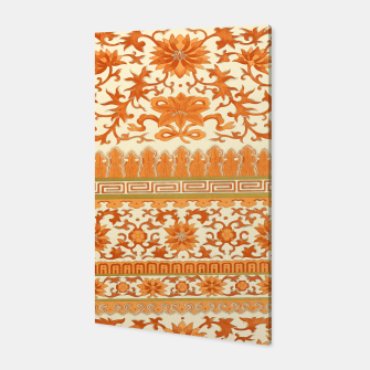 Thumbnail image of elegant Chinese floral pattern in oranges Canvas, Live Heroes