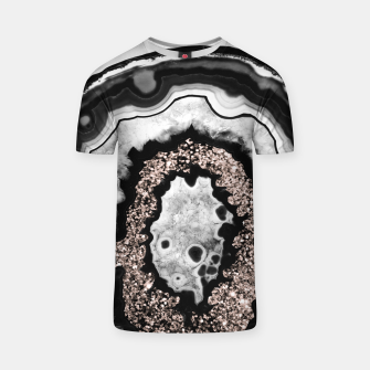Thumbnail image of Gray Black White Agate with Rose Gold Glitter #3 #gem #decor #art  T-Shirt, Live Heroes
