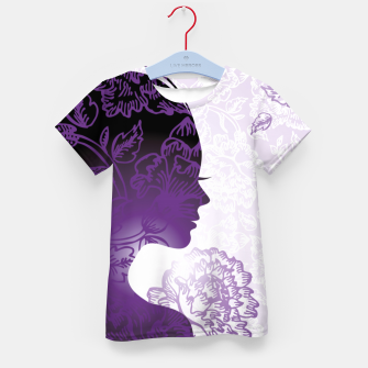 Thumbnail image of Fractal Woman Kid's t-shirt, Live Heroes