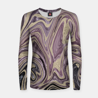Thumbnail image of Fluid Kiss #1 #abstract #decor #art  Frauen sweatshirt, Live Heroes