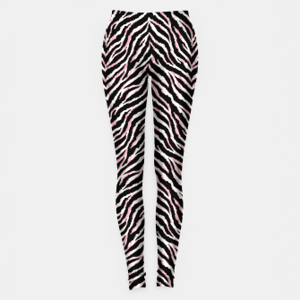 Zebra fur texture print Leggings miniature