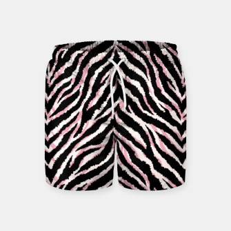 Zebra fur texture print Swim Shorts miniature