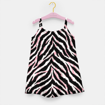 Zebra fur texture print Girl's dress miniature