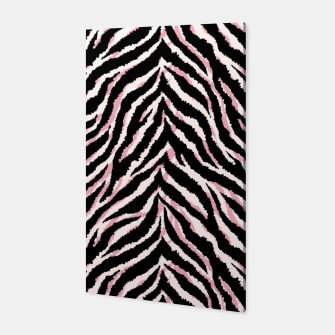 Zebra fur texture print Canvas miniature