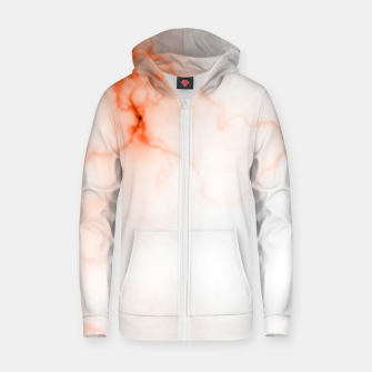 Thumbnail image of Orange Marble Zip up hoodie, Live Heroes