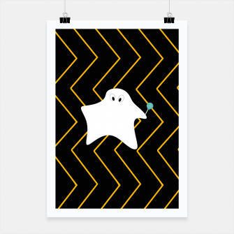 Miniature de image de Ghost - zigzag - black and orange. Poster, Live Heroes