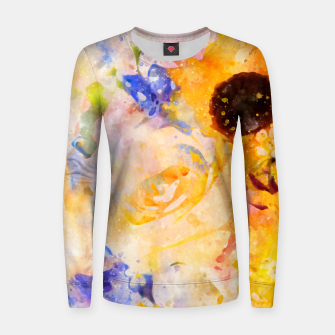 Miniature de image de Yellow Vintage Rose Women sweater, Live Heroes