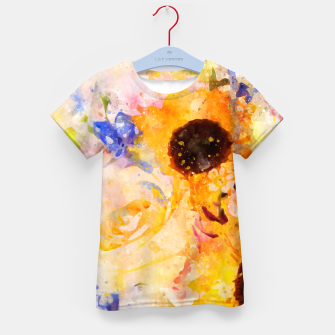 Thumbnail image of Yellow Vintage Rose Kid's t-shirt, Live Heroes
