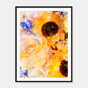 Yellow Vintage Rose Framed poster miniature