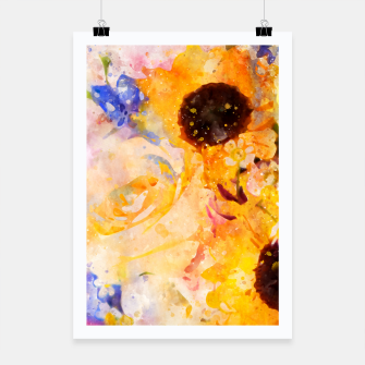 Miniaturka Yellow Vintage Rose Poster, Live Heroes