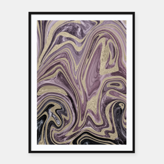 Thumbnail image of Fluid Kiss #1 #abstract #decor #art  Plakat mit rahmen, Live Heroes