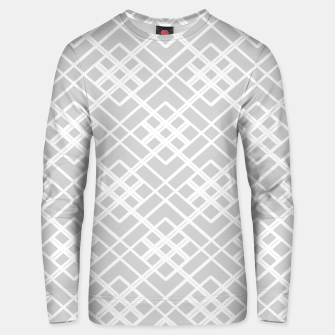 Miniaturka Abstract geometric pattern - gray and white. Unisex sweater, Live Heroes