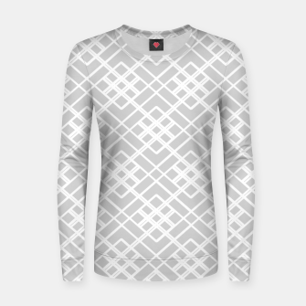 Miniature de image de Abstract geometric pattern - gray and white. Women sweater, Live Heroes