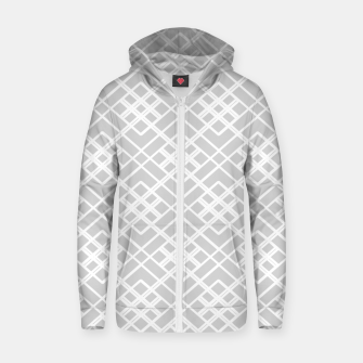 Miniaturka Abstract geometric pattern - gray and white. Zip up hoodie, Live Heroes