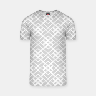Miniaturka Abstract geometric pattern - gray and white. T-shirt, Live Heroes