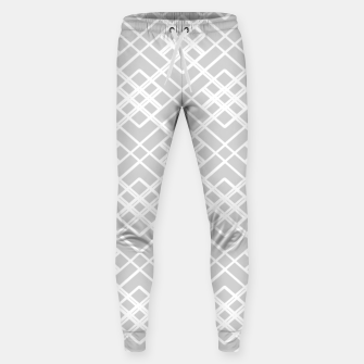 Miniaturka Abstract geometric pattern - gray and white. Sweatpants, Live Heroes