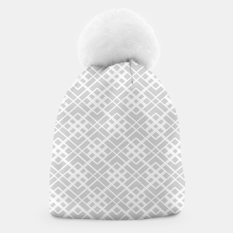 Miniaturka Abstract geometric pattern - gray and white. Beanie, Live Heroes