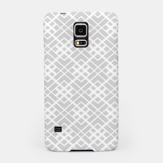 Miniaturka Abstract geometric pattern - gray and white. Samsung Case, Live Heroes