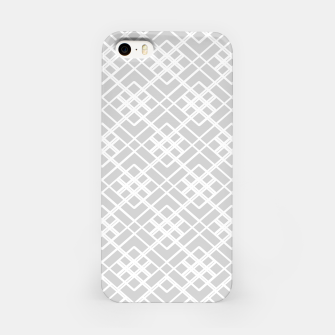 Miniature de image de Abstract geometric pattern - gray and white. iPhone Case, Live Heroes