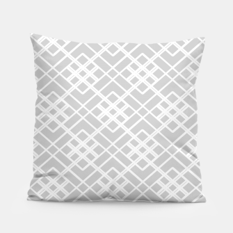 Miniaturka Abstract geometric pattern - gray and white. Pillow, Live Heroes