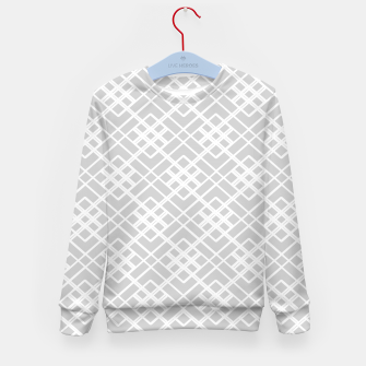 Miniature de image de Abstract geometric pattern - gray and white. Kid's sweater, Live Heroes