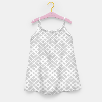 Miniaturka Abstract geometric pattern - gray and white. Girl's dress, Live Heroes