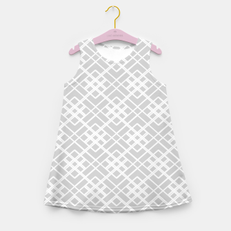 Miniature de image de Abstract geometric pattern - gray and white. Girl's summer dress, Live Heroes