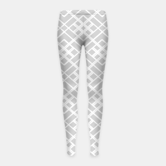 Miniature de image de Abstract geometric pattern - gray and white. Girl's leggings, Live Heroes