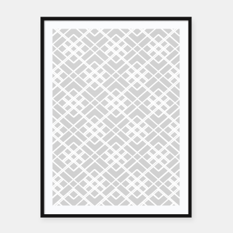 Miniaturka Abstract geometric pattern - gray and white. Framed poster, Live Heroes