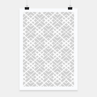 Miniature de image de Abstract geometric pattern - gray and white. Poster, Live Heroes