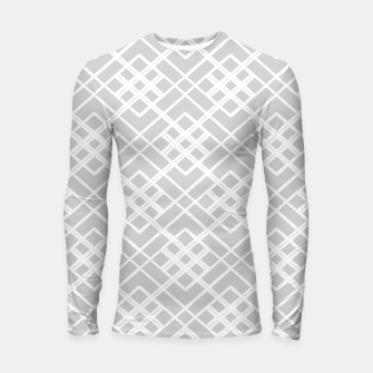Imagen en miniatura de Abstract geometric pattern - gray and white. Longsleeve rashguard , Live Heroes