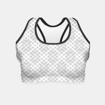 Miniature de image de Abstract geometric pattern - gray and white. Crop Top, Live Heroes