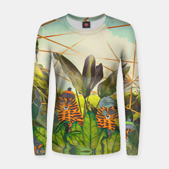 Miniature de image de Tigers in the jungle Women sweater, Live Heroes