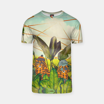 Imagen en miniatura de Tigers in the jungle T-shirt, Live Heroes