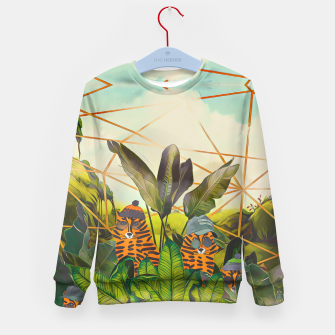 Miniatur Tigers in the jungle Kid's sweater, Live Heroes