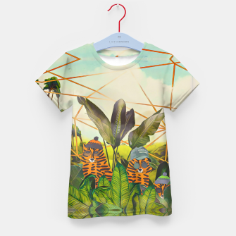 Miniatur Tigers in the jungle Kid's t-shirt, Live Heroes