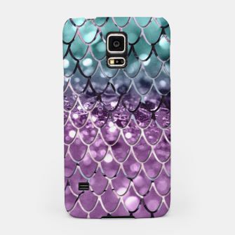 Thumbnail image of Mermaid Scales on Aqua Purple MERMAID Girls Glitter #2 #shiny #decor #art Handyhülle für Samsung, Live Heroes