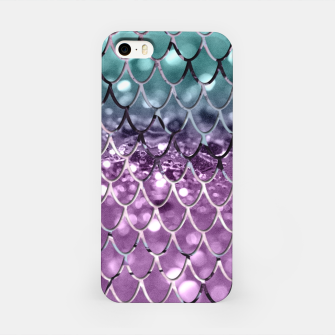 Thumbnail image of Mermaid Scales on Aqua Purple MERMAID Girls Glitter #2 #shiny #decor #art iPhone-Hülle, Live Heroes