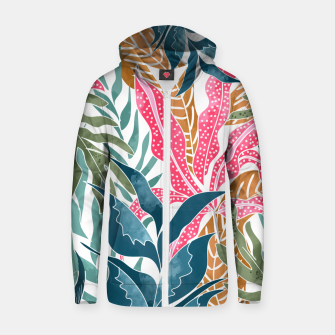 Thumbnail image of Botanicalia Zip up hoodie, Live Heroes