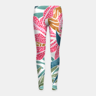 Thumbnail image of Botanicalia Girl's leggings, Live Heroes