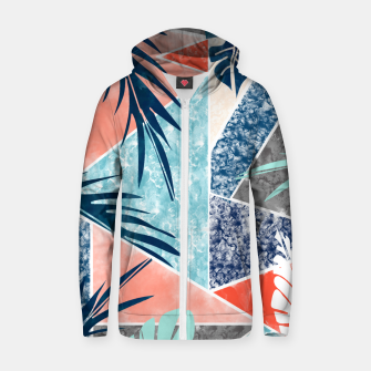 Thumbnail image of Tropicalia Zip up hoodie, Live Heroes
