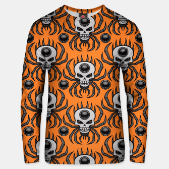 Thumbnail image of Skull Spider Halloween Pattern Unisex sweater, Live Heroes