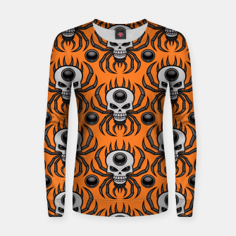 Miniature de image de Skull Spider Halloween Pattern Women sweater, Live Heroes