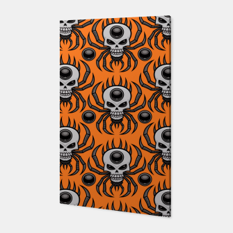 Thumbnail image of Skull Spider Halloween Pattern Canvas, Live Heroes