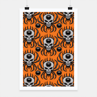 Thumbnail image of Skull Spider Halloween Pattern Poster, Live Heroes