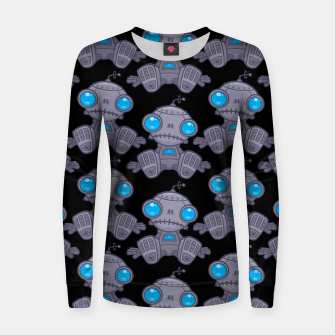 Miniature de image de Sad Robot Pattern Women sweater, Live Heroes